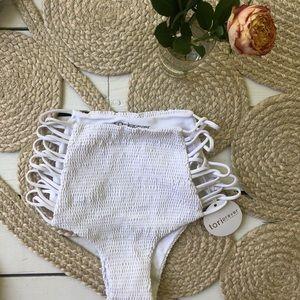 NWT Tori Praver rouched bikini bottom